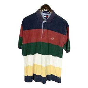 Tommy Hilfiger Striped Multicolor Colorblock Polo